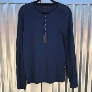 NEW John Varvatos long sleeve henley shirt